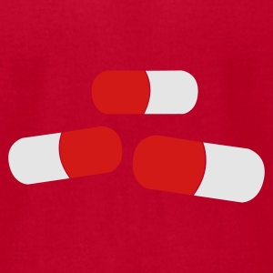 Red a couple of pills tablets medication Baby Body - Men's T-Shirt by American Apparel
