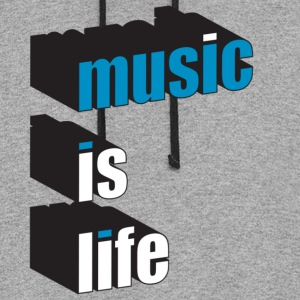 Slate music is life T-Shirts - Colorblock Hoodie