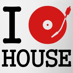 White I dj / play / listen to house T-Shirts - Coffee/Tea Mug