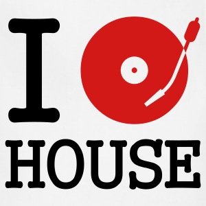 White I dj / play / listen to house Women's T-Shirts - Adjustable Apron