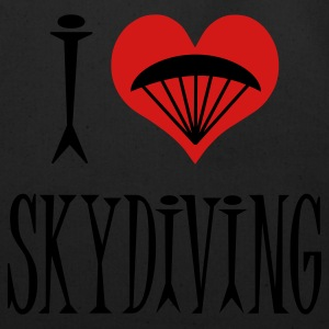 Black I Love Skydiving Women's T-Shirts - Eco-Friendly Cotton Tote