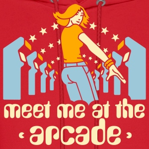 Brown Meet me at the arcade T-Shirts - Men's Hoodie