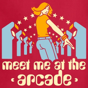Brown Meet me at the arcade T-Shirts - Adjustable Apron