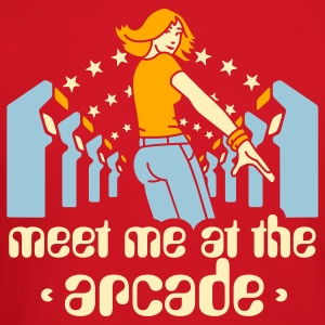 Brown Meet me at the arcade T-Shirts - Crewneck Sweatshirt