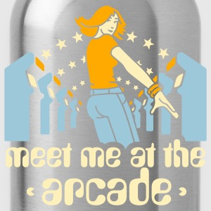 Brown Meet me at the arcade T-Shirts - Water Bottle