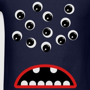 Navy Googly Eyed Monster Sweatshirts - Men's T-Shirt