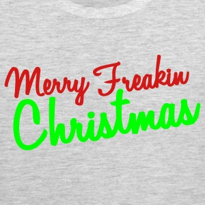 Heather grey MERRY freakin chrismtas Long Sleeve Shirts - Men's Premium Tank