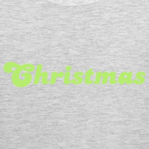 Heather grey christmas in curly cool shape Long Sleeve Shirts - Men's Premium Tank