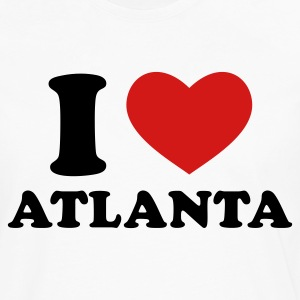 White I Love Atlanta T-Shirts - Men's Premium Long Sleeve T-Shirt