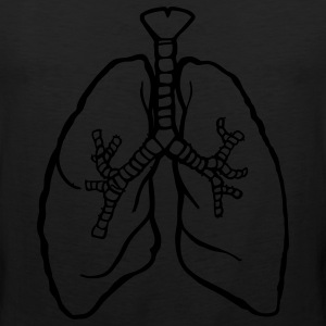 Red/white LUNGS breathe breath lung rough T-Shirts - Men's Premium Tank