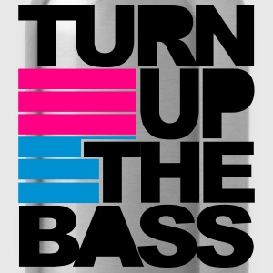 Black Turn Up The Bass Women's T-Shirts - Water Bottle