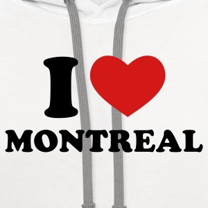 White I Love Montreal T-Shirts - Contrast Hoodie