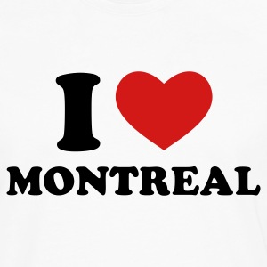 White I Love Montreal T-Shirts - Men's Premium Long Sleeve T-Shirt