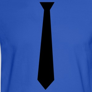 Royal blue tie Hoodies - Men's Long Sleeve T-Shirt