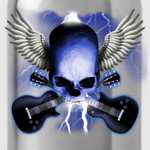 Black skull_and_wings_and_guitars Women's T-Shirts - Water Bottle