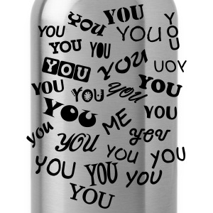Brown you and me - typo Women's T-Shirts - Water Bottle