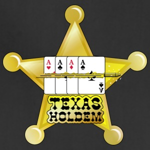 Dark red texas holdem shooting star (DDP) Eco-Friendly Tees - Adjustable Apron