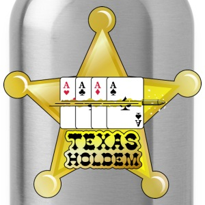 Dark red texas holdem shooting star (DDP) Eco-Friendly Tees - Water Bottle