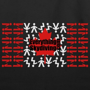 Black Canadian Skydiving Flag Women's T-Shirts - Eco-Friendly Cotton Tote