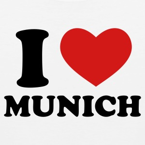 White I Love Munich T-Shirts - Men's Premium Tank
