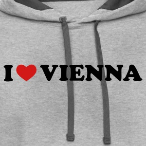 Light oxford I Love Vienna T-Shirts - Contrast Hoodie