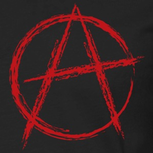Black anarchy symbol T-Shirts - Men's Premium Long Sleeve T-Shirt