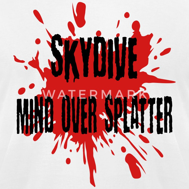 White Skydive Mind Over Splatter T-Shirts - Men's T-Shirt by American Apparel