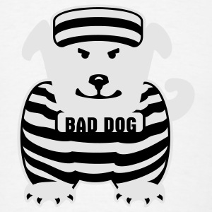 White bad dog (2c) Buttons - Men's T-Shirt