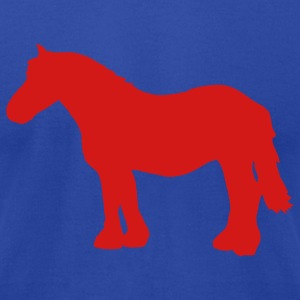 Royal blue cold-blooded horse Hoodies - Men's T-Shirt by American Apparel