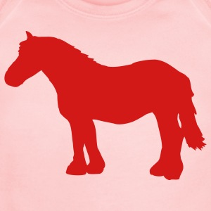 Pink cold-blooded horse Sweatshirts - Short Sleeve Baby Bodysuit