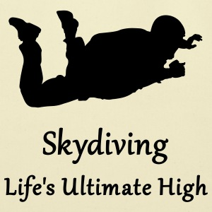 Gold Skydiving Life's Ultimate High T-Shirts - Eco-Friendly Cotton Tote