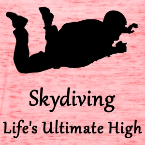 Gold Skydiving Life's Ultimate High T-Shirts - Women's Flowy Tank Top by Bella