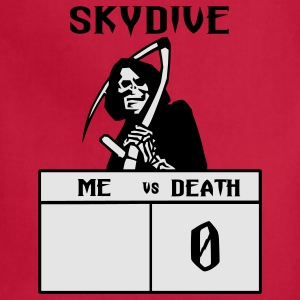 Red Skydive Me vs Death T-Shirts - Adjustable Apron