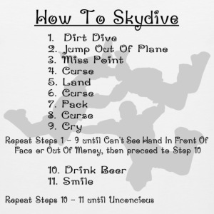 White How To Skydive T-Shirts - Men's Premium Tank