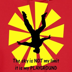 Red The Sky Is Not My Limit It Is My Playground T-Shirts - Men's Hoodie