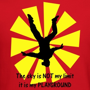 Red The Sky Is Not My Limit It Is My Playground T-Shirts - Crewneck Sweatshirt