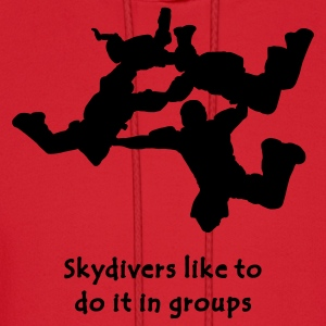 Light blue Skydivers Like To Do It In Groups T-Shirts - Men's Hoodie
