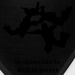 Light blue Skydivers Like To Do It In Groups T-Shirts - Bandana
