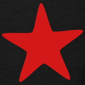 Dark red star Bags  - Men's T-Shirt
