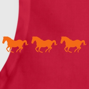 Orange Three Horses Galloping T-Shirts - Adjustable Apron
