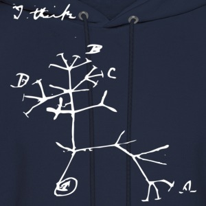 Darwin I Think Tree - Men's Hoodie