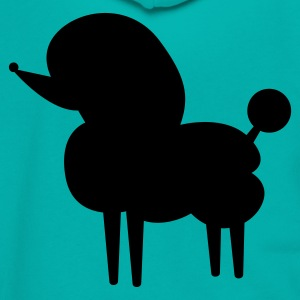 Teal FANCY POODLE SHAPE Women's T-Shirts - Unisex Fleece Zip Hoodie by American Apparel