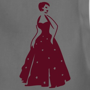 Teal beautiful vintage dancing woman with pretty stars on her formal gown Women's T-Shirts - Adjustable Apron