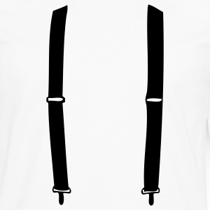 White suspender T-Shirts - Men's Premium Long Sleeve T-Shirt
