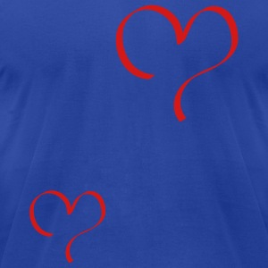 Moss heart Tanks - Men's T-Shirt by American Apparel