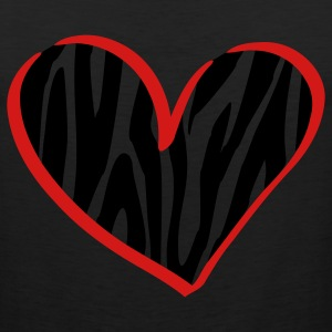 Black zebra heart Kids' Shirts - Men's Premium Tank