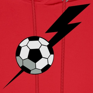 Red SOCCER BALL world cup with a LIGHTNING BOLT Long Sleeve Shirts - Men's Hoodie