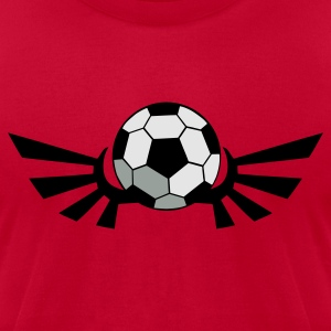 Red SOCCER BALL football with AIRFORCE wings Long Sleeve Shirts - Men's T-Shirt by American Apparel