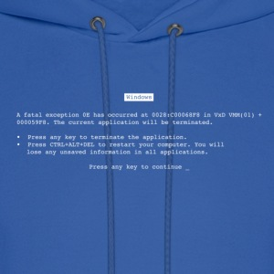 Royal blue Blue Screen of Death (BSOD) T-Shirts - Men's Hoodie