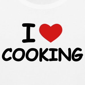 White I Love Cooking T-Shirts - Men's Premium Tank